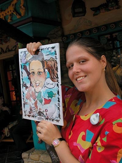 Erica Caricatures at Disney